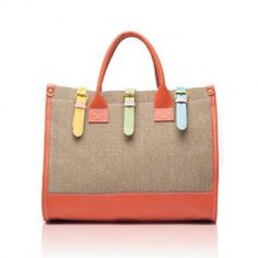 $9.66 Fashion and Casual Women's Handbag With Color Block and Buckle Design