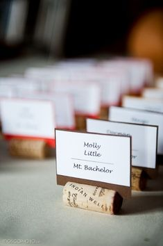 DIY cork place cards