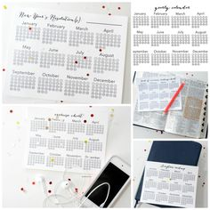 New Year's Eve Resolutions Printable Calendars - The Idea Room