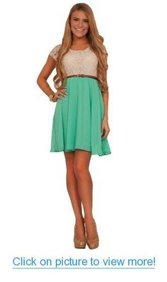 Crochet Lace Fit-N-Flare Chiffon Double Layered Casual Sweet Teen Dress