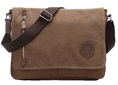 Life Boost Vintage Canvas Satchel Messenger Laptop Shoulder Crossbody Sling Bag