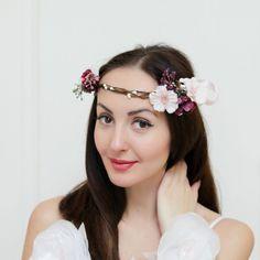 Boho floral crown Floral Crown Flower halo Bridal от ByKochetova