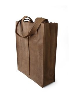MY PAPER BAG. Timeless and practical sustainable leather shopper.