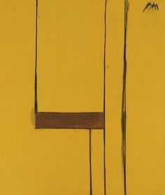 """ Robert Motherwell (American, Singing Yellow, Acrylic and charcoal on canvas, 69 x 58 in. Robert Motherwell, Abstract Expressionism, Abstract Art, Abstract Paintings, Sisters Art, Minimalist Painting, Concrete Art, Mark Rothko, Paul Gauguin"
