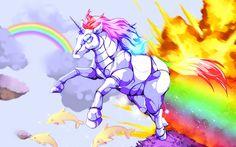 1680x1050 High Quality robot unicorn attack