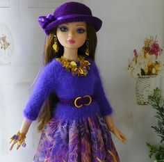 By lisella64...Doll Outfit-Tonner Ellowyne,Lizette,Amber-Jewelry-Magnetic Clasp