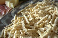 ''Tripas'' home made dried shape of pasta