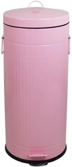 Retro trashcan pastel retro rubbish pinterest retro and pastel - Pink kitchen trash can ...