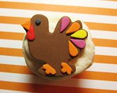 Thanksgiving turkey cupcake toppers