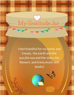 Gratitude Jar, Feeling Thankful, Feelings, School