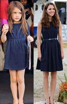 Suri, fetiţa lui Tom Cruise, un guru al modei pentru ducesa de Cambridge