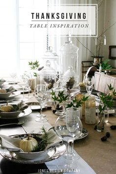 thanksgiving table / jones design company