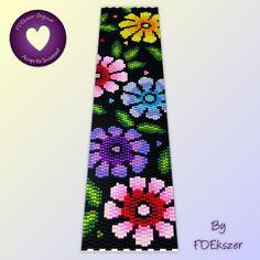 Flower Power:  Peyote Stitch bracelet Pattern or loom pattern  - pdf - bp141 / Buy any 2 patterns get 1 free special offer