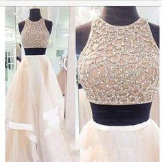 Two pieces Prom Dresses,Long Prom Dress,Long Prom Dress,A line Prom Dr – Princesssbride