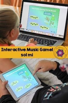 Melody Sol Mi Interactive Music Game {Freddie's Pad} Your 1st and 2nd graders are going to love this music game! Fun activity to add to lesson plans.