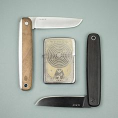 The modern classic that is the James Brand County Knife features beautifully burnished wood handle for an organic feel in the hands. Link in bio! #UrbanEDCSupply