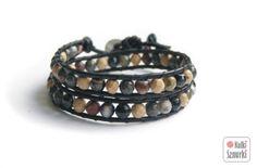 www.facebook.com/... Kulki Sznurki-biżutera personalizowana. Handmade jewellery. Wrap bracelets on leather #bracelet #bransoletka  #walentynki #valentinesday #prezenty