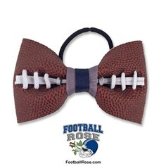 Handmade Football Hair Bow made from real football leather with Navy Blue and Silver ribbon accents Football Hair Bows, Blue And Silver, Navy Blue, Different Font Styles, Football Fever, Elastic Hair Ties, Making Hair Bows, Ribbon Colors, How To Make Bows
