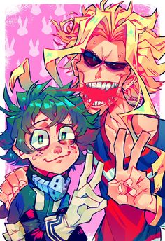Deku trying not to freak out as all might casually bleeds everywhere M Anime, Anime Meme, Anime Art, Cute Art Styles, Cartoon Art Styles, Psychedelic Art, Art Reference Poses, My Hero Academia Manga, Character Design Inspiration