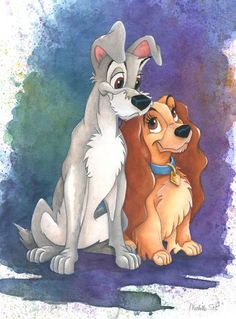 LADY AND THE TRAMP!!  FAVORITE MOVIE FROM MY CHILDHOOD :)