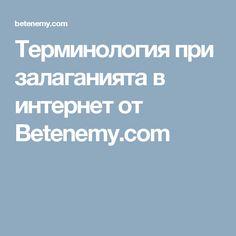 Терминология при залаганията в интернет от Betenemy.com