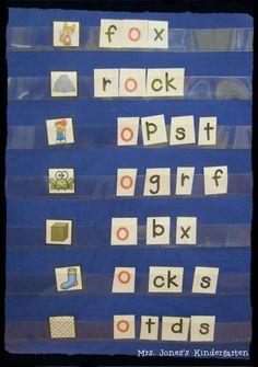 Snip, Mix and Spell pocket chart fun! ~ Mrs. Jones's Kindergarten