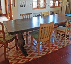 Dining room cuban tile floor