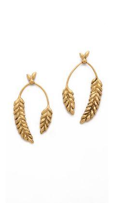 Aurelie Bidermann Wheat Cob Earrings