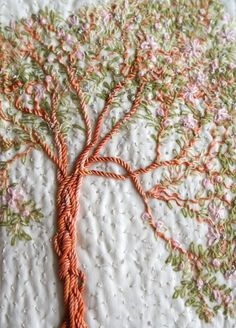 Almond Blossom, embroidery