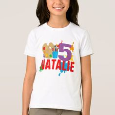 Paint splash Art Birthday Party T-Shirt - tap, personalize, buy right now!