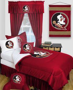 Florida State Seminoles Locker Room 6pc Twin Bed Set