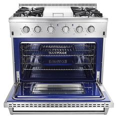 Thor Kitchen Professional Style 4 Burners And Griddle 36 Inch Gas Range  With Convection Oven