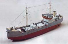 Caldercraft Brannaren - Swedish Coastal Tanker 1:48 Scale Model Boat Kit Cornwall Model Boats Ltd