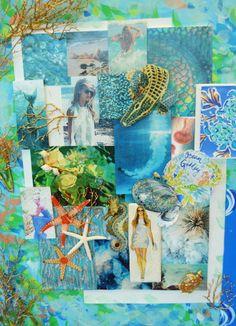 Lilly Pulitzer Ocean Goddess Inspiration Board