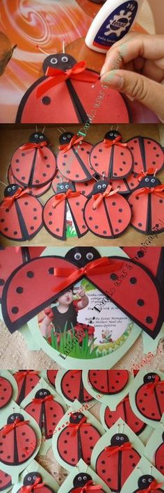 Dikinhas da Sil Bird Party, Ladybug Party, Ladybug 1st Birthdays, Ladybug Cakes, Art Activities For Kids, 4th Birthday, Projects For Kids, Cardmaking, Party Themes