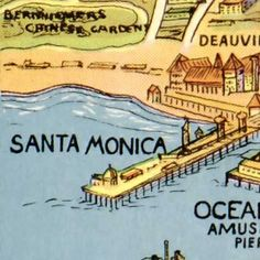 great old map of Los Angeles 1934. great art piece in my future den :)