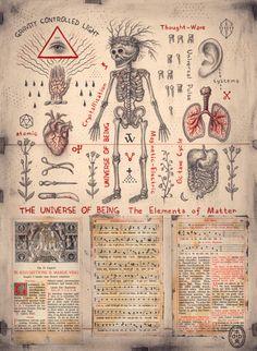 The Universe of Being (El Universo del Ser) por Daniel Martin Diaz Occult Symbols, Magic Symbols, Occult Art, Ancient Symbols, Magick, Witchcraft, Alfabeto Viking, Alchemy Art, Esoteric Art