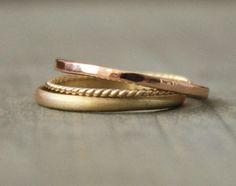 Gold Ehering fest 14 k Gold Band Jubiläum von kristinwelchdesigns
