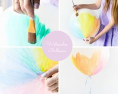 DIY Watercolor Balloons How To