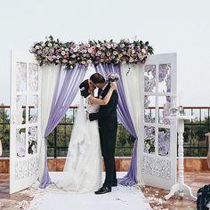 Pergola With Retractable Canopy Kit Wedding Gate, Wedding Doors, Wedding Altars, Wedding Ceremony, Wedding Arches, Perfect Wedding, Dream Wedding, Beach Wedding Decorations, Wedding Backdrops