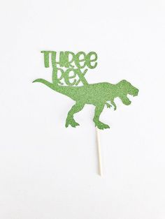 Three Rex Cake Topper / Dinosaur Cake Topper / Dinosaur Birthday Party / T-Rex Cake Topper / Three Year Old Cake Topper / Birthday 3 Year Old Birthday Party Boy, Dinosaur Birthday Party, Third Birthday, 3rd Birthday Parties, Boy Birthday, Birthday Ideas, Birthday Cakes, T Rex Cake, Dinosaur Cake Toppers