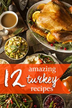 Check out these 12 amazing turkey recipes just in time for #Thanksgiving #spon