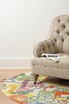 gorgeous styling- rug & matching trim... Dream Menagerie Rug - Anthropologie.com