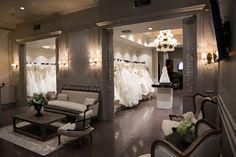 Elegant bridal salon idea