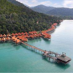 Water Villas at Berjaya Langkawi Resort, Malaysia Malaysia Hotels, Malaysia Travel, Amazing Destinations, Travel Destinations, Holiday Destinations, Kid Friendly Vacations, Water Villa, Exotic Beaches, Island Resort