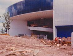 Construction of the World of Motion Pavilion Disney Day, Disney Parks, Walt Disney World, Epcot Center, Vintage Disney, Pavilion, Universe, Florida, Construction