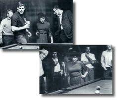 Pool shark Judy Garland hustles some Dartmouth boys, 1960s