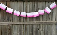 Create a Valentine's Day garland with dip-dyed paper envelopes! >> http://blog.diynetwork.com/tool-tips/2012/10/08/make-it-customized-wedding-invites/?soc=pinterest#