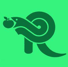 Draplin Design Co. Draplin Design, Typography Logo, Lettering, Branding, Apple Logo, 2d Art, Logo Inspiration, Cool Art, Snake