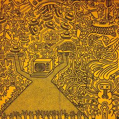 New post on sunshine-and-happy-things Pop Art Drawing, Cool Drawings, Drawing Skills, Keith Haring Art, Abstract Art Images, Modern Pop Art, Pattern Coloring Pages, Art Party, Pablo Picasso